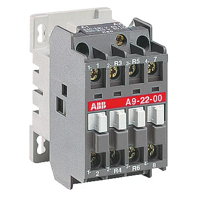 gallery of 4 pole contactor 2no 2nc wiring diagram  abb a9-22-00 220-230v  50hz / 230-240v 60hz on