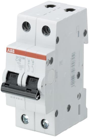 S202-C20 Überstromschalter 400VAC lNenn 20A Anz.Pole 2 Montage DIN ABB
