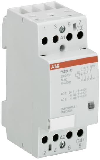 ABB E259R10-24-LC 1S 24VAC//24V~ Installationsschütz Relais 2CSM411002R0401