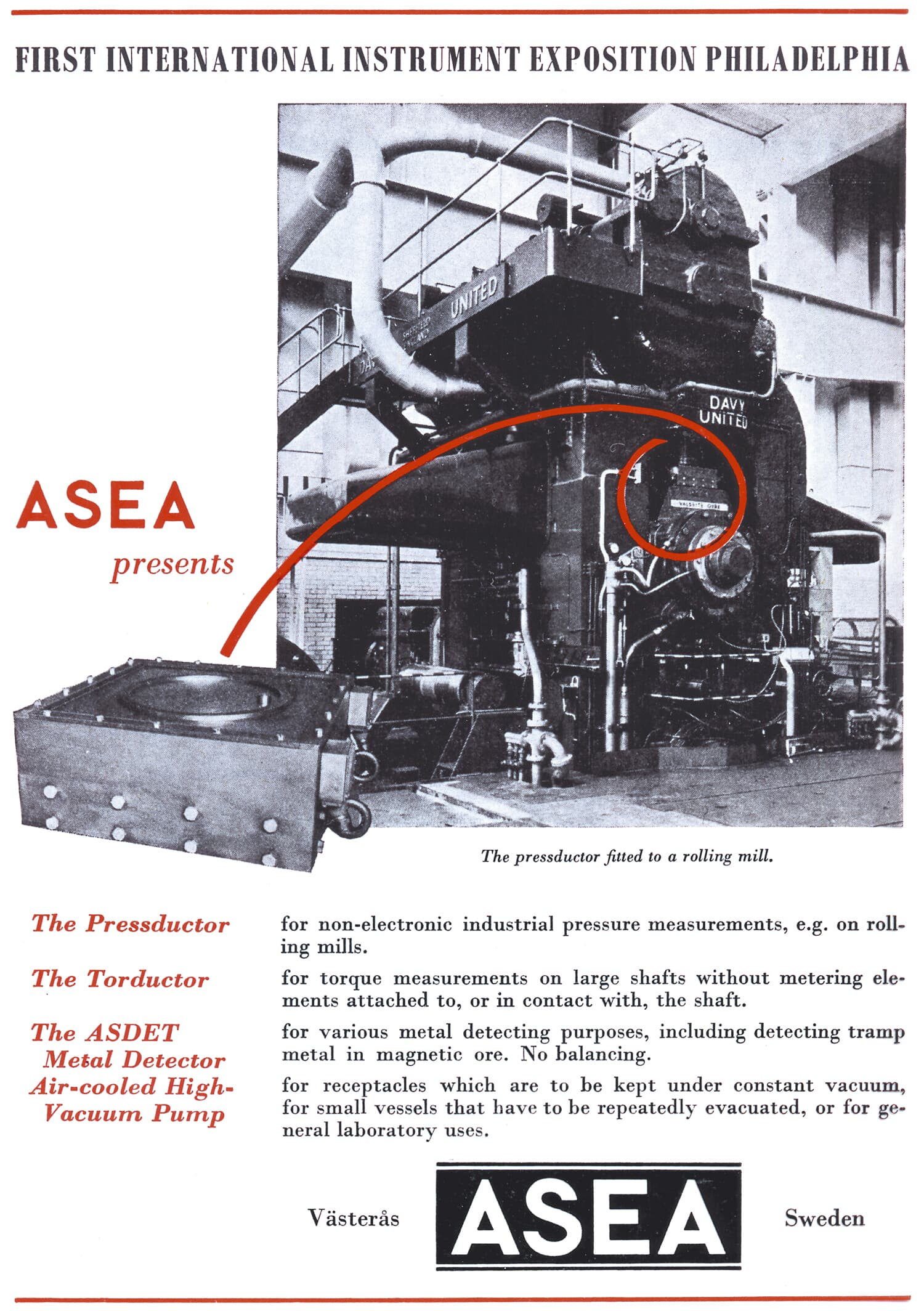 Click to enlarge the first Pressductor ad.