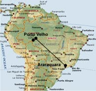 Map over Rio Madeira HVDC in Brazil.