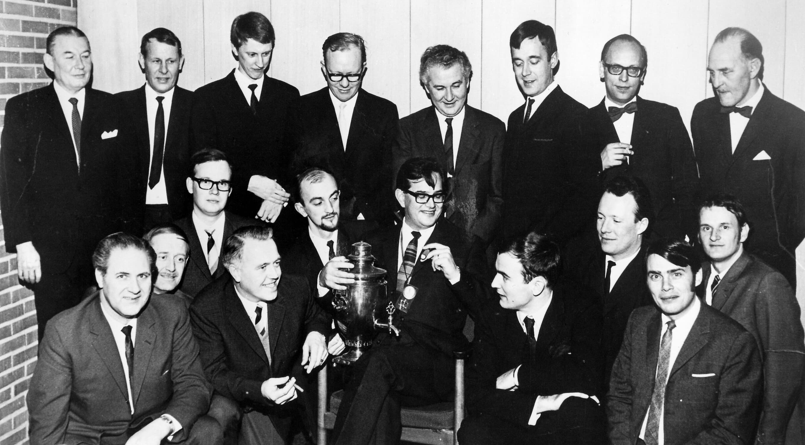 The Pressductor Team headed by Dr. Orvar Dahle (top row, far right) in the 1960s