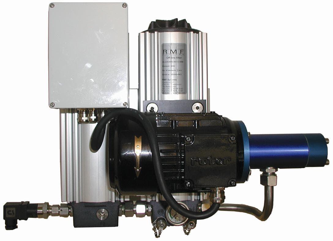 Oil filter, position indicator, voltage regulator