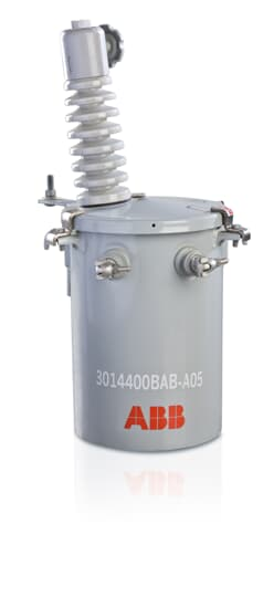 ABB K7312W10AAW30P1 10KVA POLE MOUNT TRANSFORMER 7200/12470GRDY PRIMARY TO 120/240 SECONDARY 2BUSHING CONVETIONAL WITH TAPS