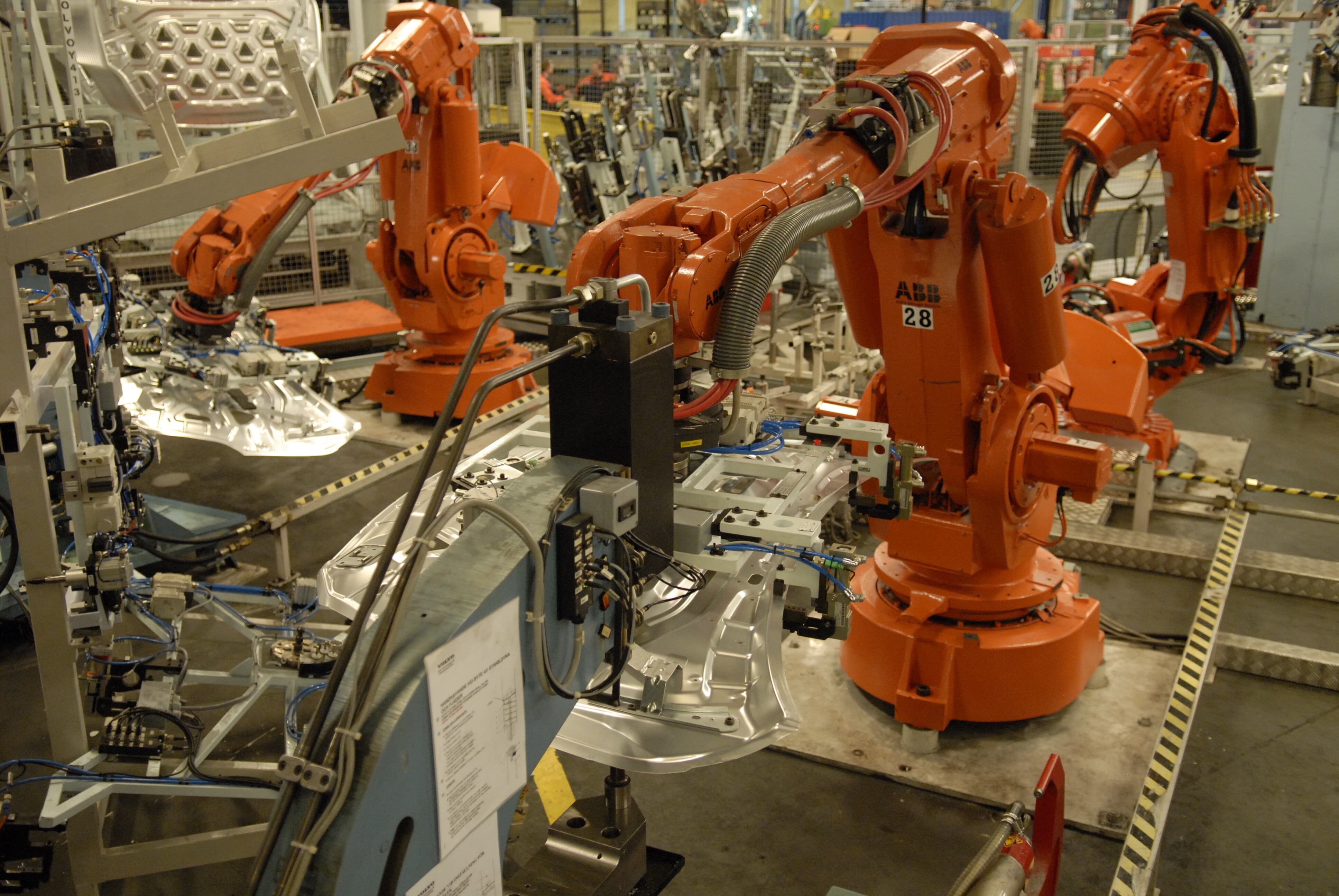 ABB Integrated dresspack for the ABB Robots at the Volvo cars in Olofstrom