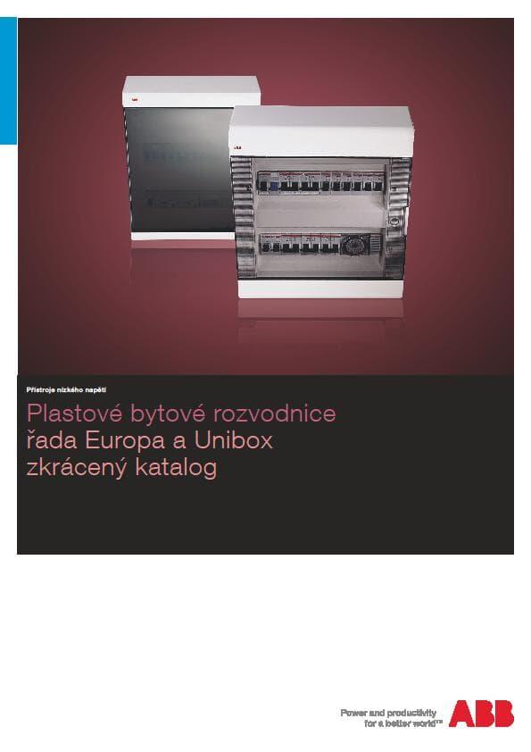 Plastové bytové rozvodnice řada Europa a Unibox