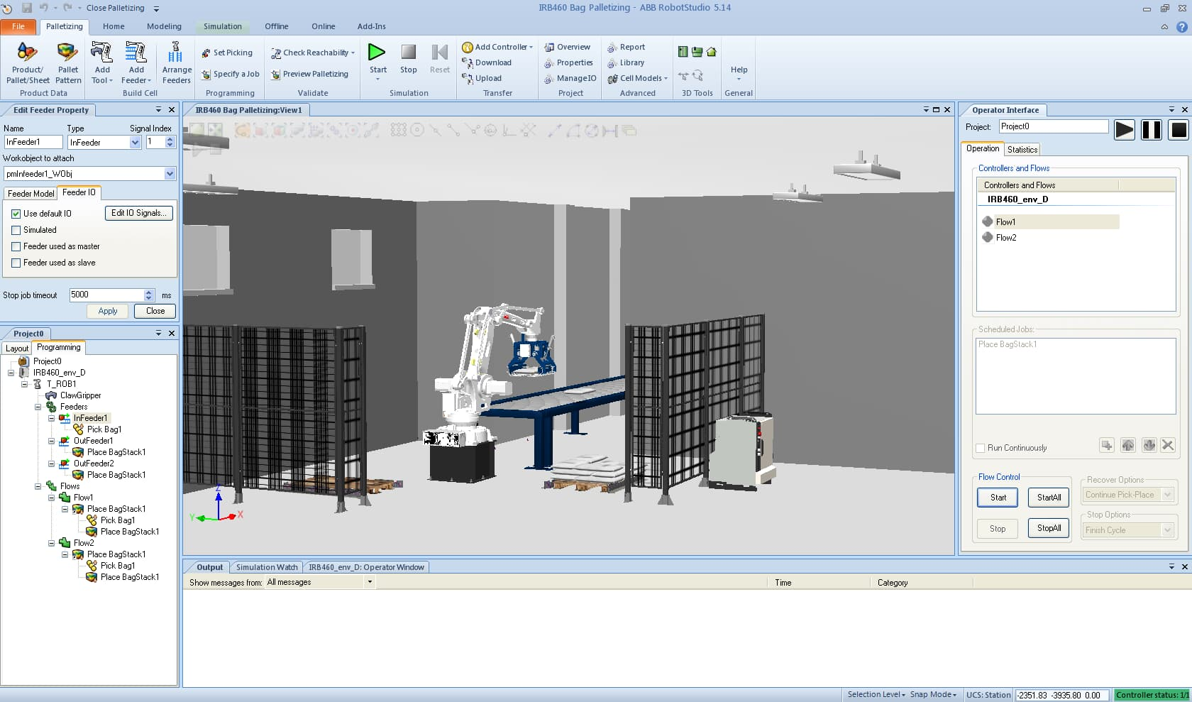 Screenshot of Palletizing PowerPac software