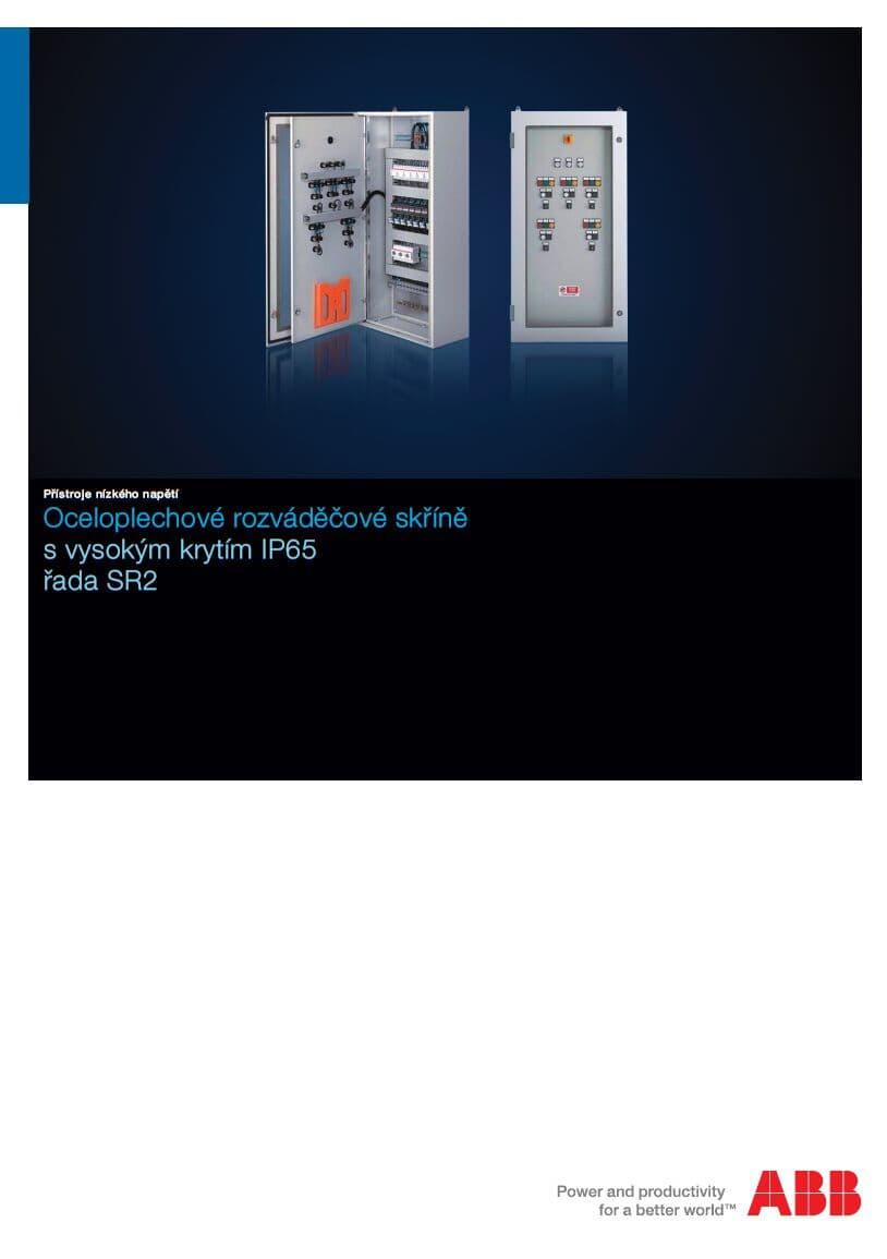 Oceloplechové nástěnné rozváděče řady SR2 - katalog v ČJ