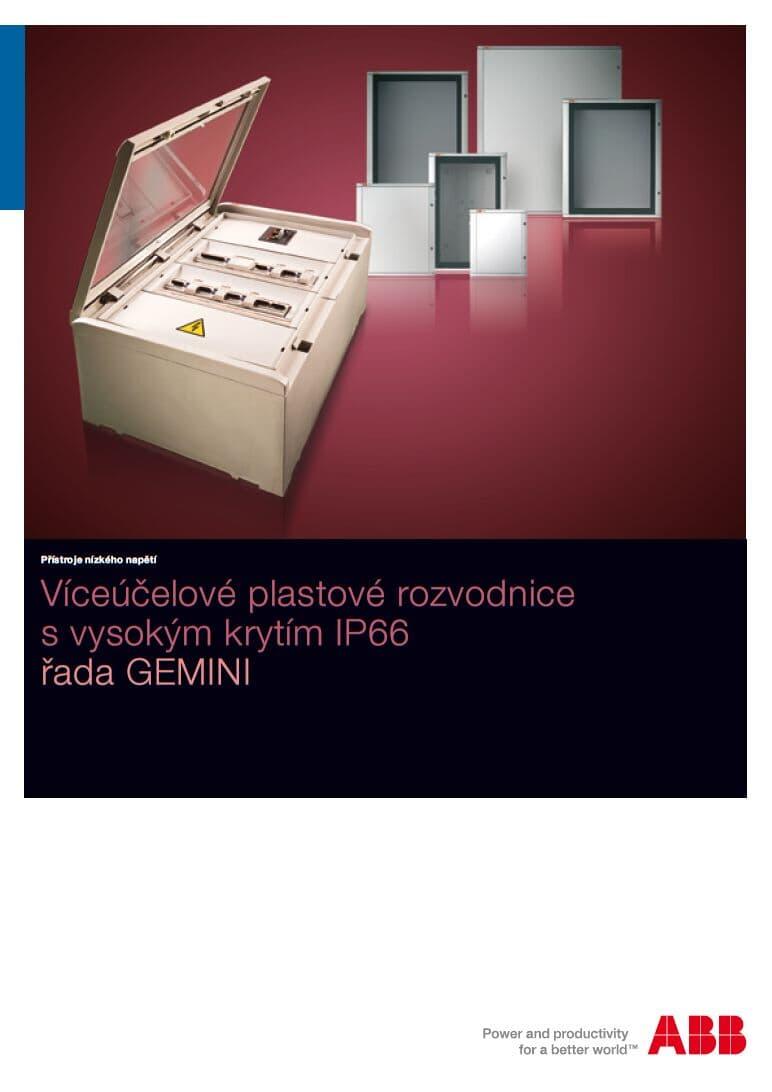Víceúčelové plastové rozvodnice s vysokým krytím IP66 řada GEMINI