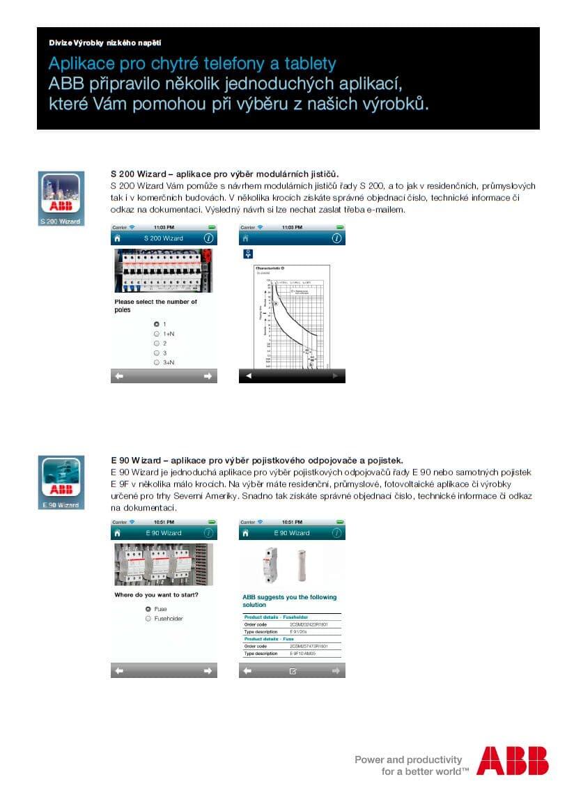 Aplikace pro chytré telefony a tablety