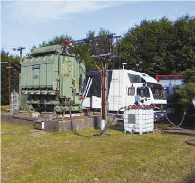 Mobile LFH unit for on-site transformer drying.