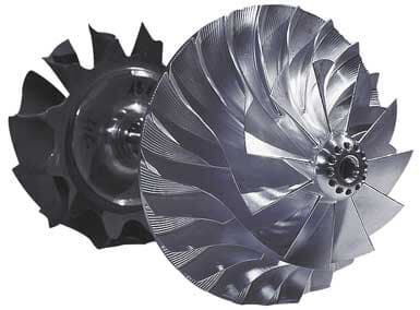 TPS..-E compressor and turbine.
