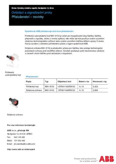 Ovládací a signalizační prvky - novinky v příslušenství
