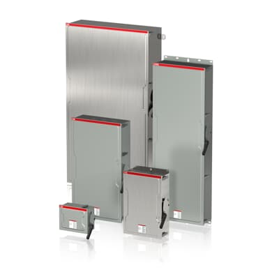 Enclosed non-fusible heavy duty safety switches