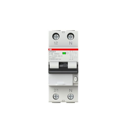 0,03 Typ A B 16 1P+N ABB FI//LS-Schalter 6kA // DS201A-B16//0,03 NEU 30mA